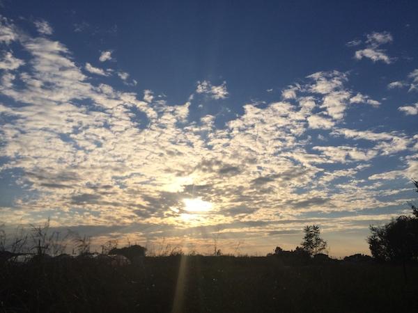 2013年10月26日16時頃の空