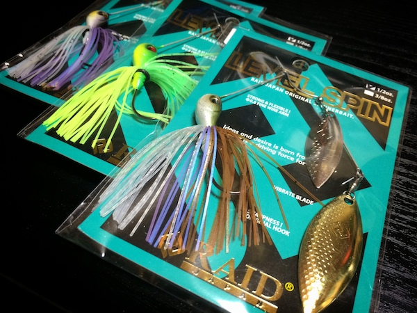 RAID JAPAN / LEVEL SPIN 1/2oz #PURPLE SHAD #SPRITE GREEN #QUICK SHAD