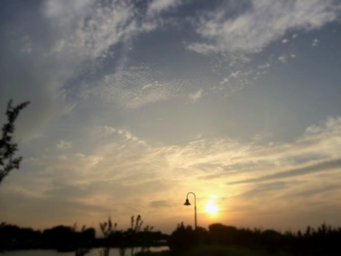 2014年7月13日釣行 夕暮れの空模様
