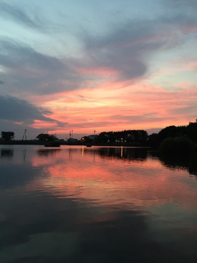 2014年9月21日釣行 夕暮れ iPhone 6で撮影